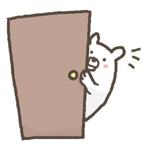 賃貸ドア上の落書き注意