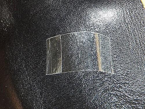 セロテープは両端を折り曲げます。
